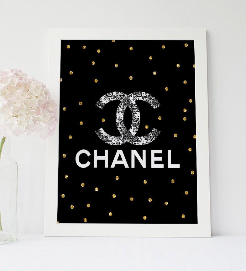 black chanel print lace coco chanel logo coco chanel chanel