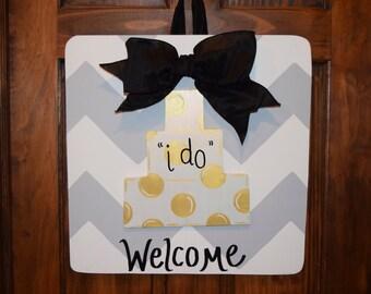 "Wedding Cake ""I Do"" Door Hanger- Attachment Only"