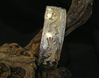 Vintage Tribal Musicians Sterling Cuff