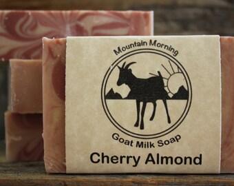 Cherry Almond Goat Milk Soap--5 oz