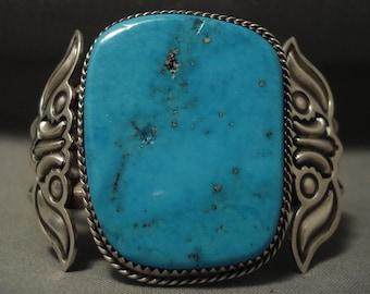 Museum Vintage 'Huge Turquoise' Silver Bracelet