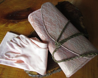Pink Purse And Baby Pink Gloves