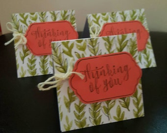 Thinking of You cards - set of 3