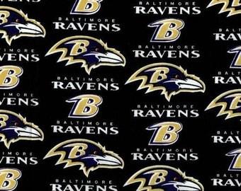 Fabric-Baltimore Ravens NFL-Black Gold Purple