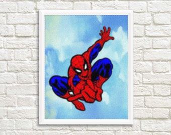 Spiderman Wall Art ,Printable Art, Inspirational Quote, Typography Art, Digital Prints,Wall Art Prints, Digital Download
