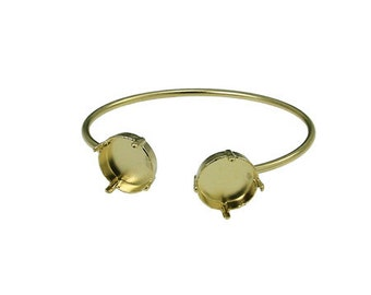 Rivoli 59ss/ 14 mm bangle with soldered bases 1 pcs