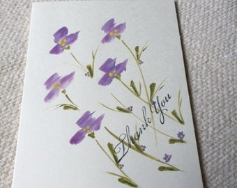 Hand painted cards