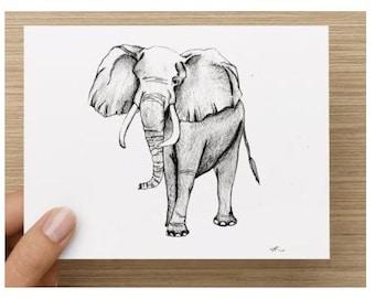 Elephant Note cards/Elephant Stationery