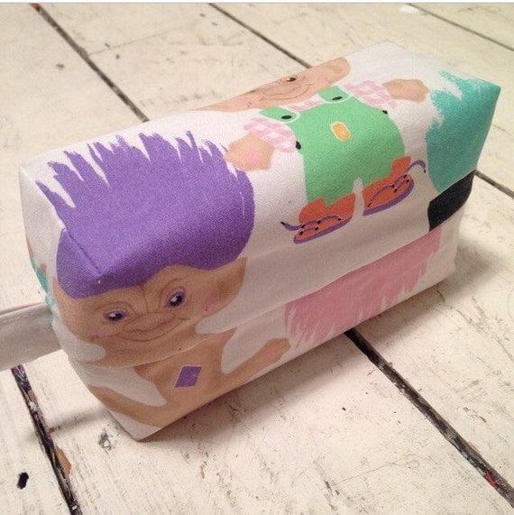 Treasure Troll Doll make up bag / pencil case.