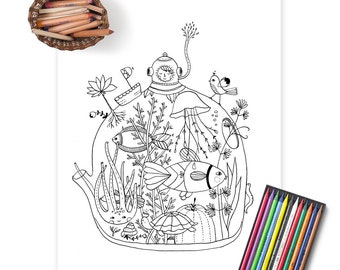Coloring pages - fun and relaxing