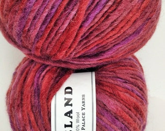 Crystal Palace Iceland Yarn, Color: Grape Crush, Fiber-Wool, Weight-Super Bulky