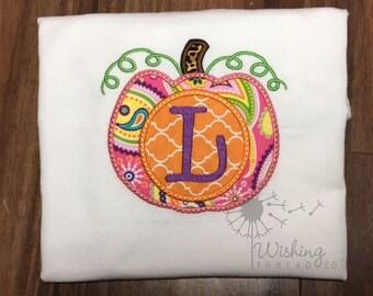 Pumpkin Letter Shirt