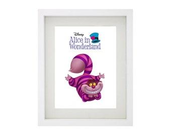 CHESHIRE CAT from Disney's Alice In Wonderland Framed Art Collection - Walt Disney Print