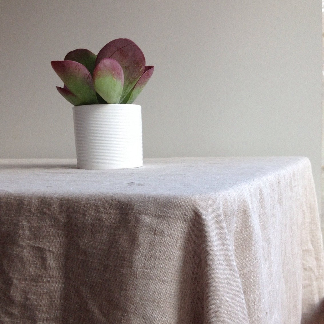 Extra wide linen tablecloth 90 x 85 230x215cm from for 85 inch tablecloths
