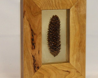 Unique Walnut and Cherry Pine Cone Art