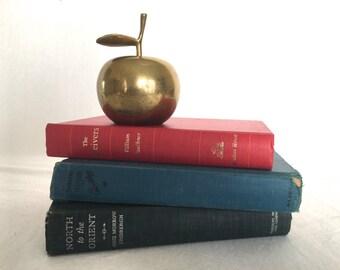 Vintage Brass Apple Bell - Medium