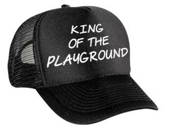 King of the Playground Trucker Hat// Youth Hat//Trucker Hat//Printed Mesh Cap//Big Brother