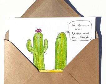 Brenda Cactus Greeting Card
