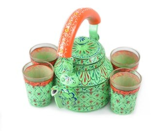 Hand Painted Kaushalam Tea Kettle set