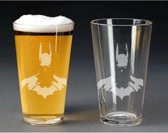 Batman Pint Glass - pint glass - beer mug - shot glass