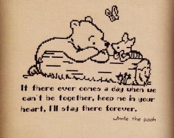 Winnie the Pooh Finished cross stitch