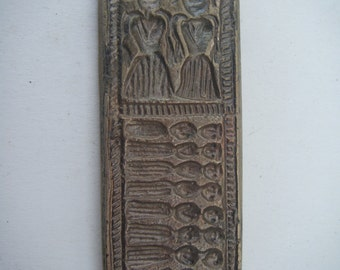 Collectible Tribal Pendant Vintage Old Brass Stamp Die Mold Jewellery Metal Smith Tool #1025