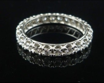 Spectacular 1.92CT Old Cut Diamond Full Eternity 18ct Gold Ring