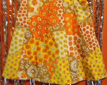 60s Groovy Psychedelic Funky Vintage Skirt
