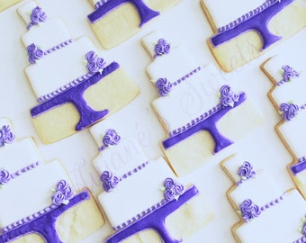 One Dozen Wedding Sugar Cookies - Engagement Favors - Decorated Cookies