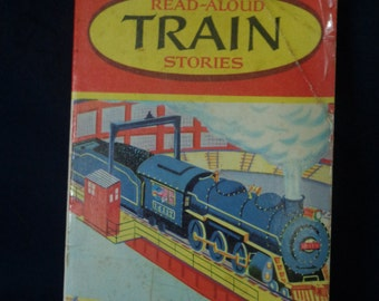 Vintage Children's Paperback - Read-Aloud Train Stories, wonderbooks 1957, Illus. by Art Seiden