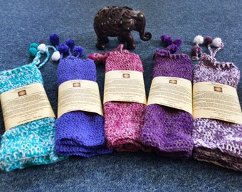 Lavender Crochet Leg Warmers
