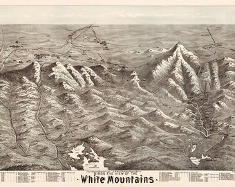 White Mountains, New-Hampshire, N.H. G.W. Morris Publisher, 1890. Includes index to summits and other geographical features and note.