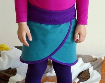 Skirt Organic Cotton Fleece Birch Fabrics, Teal skirt