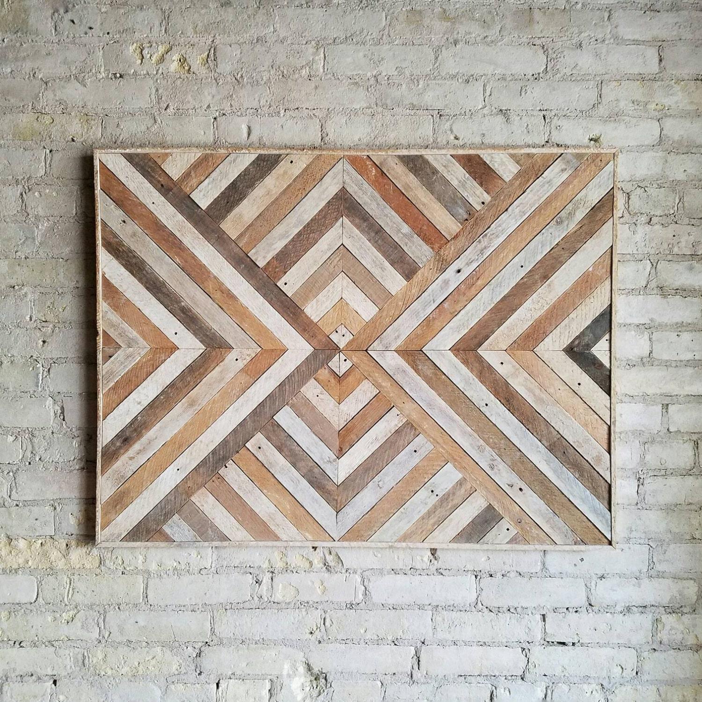 Reclaimed Wood Wall Art Wood Wall Decor Twin Headboard