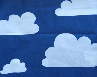 Farg & Form printed fabric - white clouds on blue