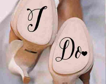 Wedding Shoe Decal - I do Decal - bottom of wedding shoe decal - Wedding Decal