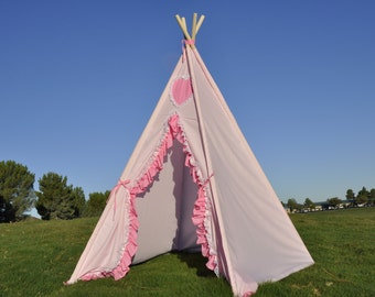 Pinkalicious Kids Teepee, Kids Play Tent, Childrens Play House, Tipi,Kids Room Decor