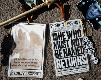 The Daily Prophet Bookmark- Hand-made