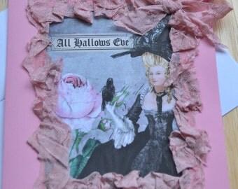 Marie Anotoinette Halloween  Card