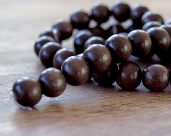 wood balls, grey wood, wood beads, wooden bead balls, natural beads, round beads, jewelry supplies, findings, 8mm grey wood balls