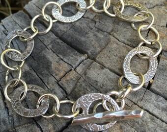 Shimmering Leaf Bracelet