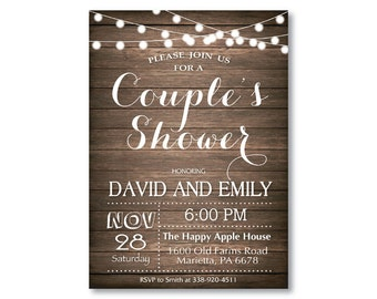 couples shower invitation | etsy, Wedding invitations