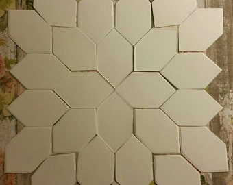 260 ~1 inch sides Lucy Boston POTC shapes English paper pieces /pieced Honeycomb 110lb weight card stock 260 pieces quilting epp papers