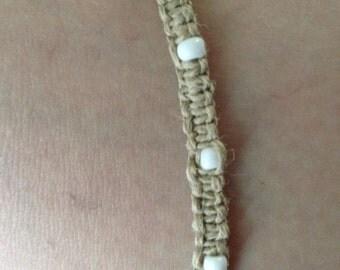 Hemp Square knot bracelet