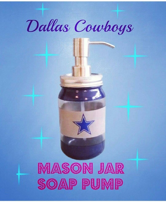Mason Jar Soap Dispenser, Custom Colors, Bathroom Decor, Bathroom  Accessories, Dallas Cowboys, Football