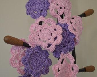 Flower motif scarf