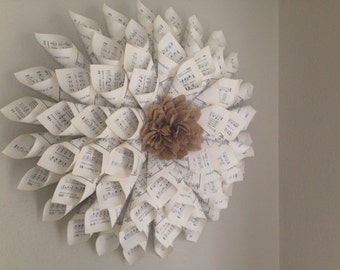 Petite Hymnal Book Page Wreath