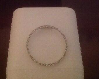 14K White Gold Circle of Life Diamond Pendant