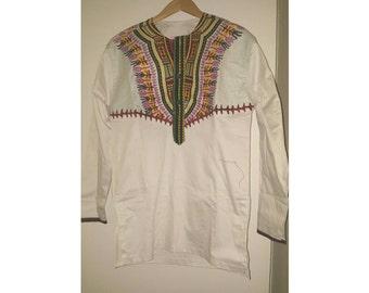 Dashiki print Long sleeve shirt