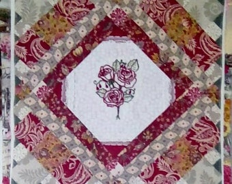 Handmade Table Topper or Wall Hanging Quilt